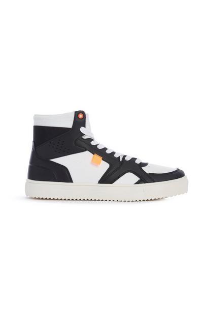 Schwarz-weiße High-Top-Sneaker