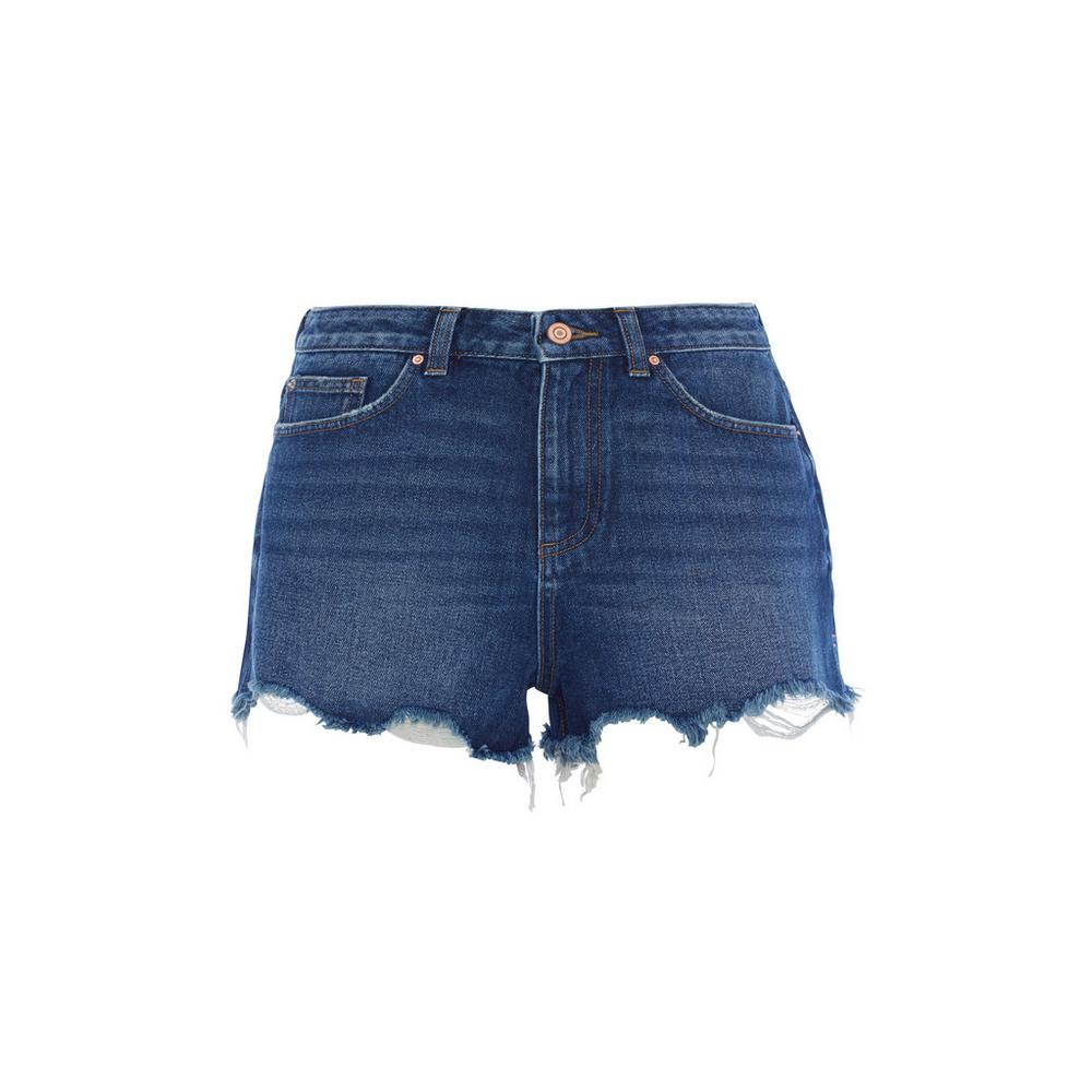 high-waisted-dark-blue-short by primark