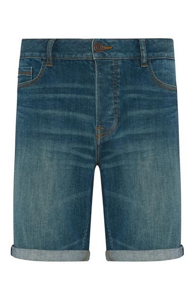 Jeansshorts mit Falten