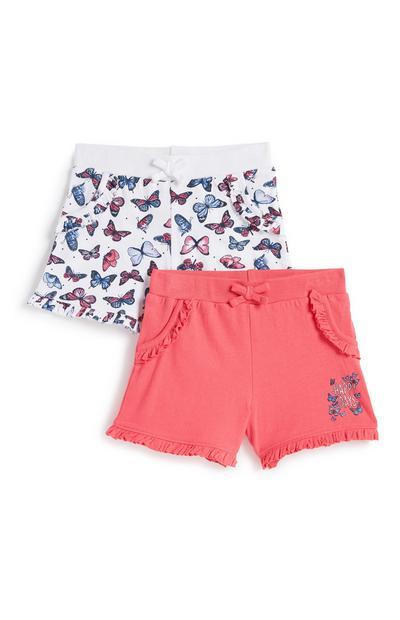 Shorts (kleine Mädchen), 2er-Pack