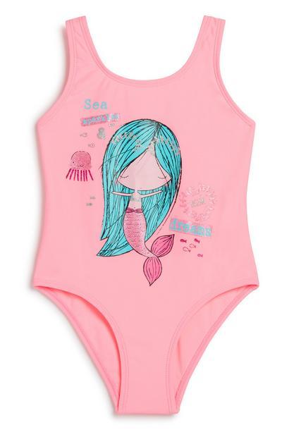 Badeanzug mit Meerjungfrau (kl. Mädchen)
