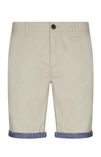Ecrufarbene Shorts