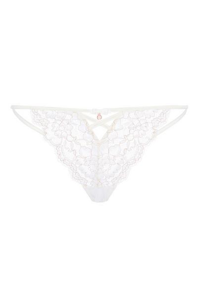 Ivory Rose Thong