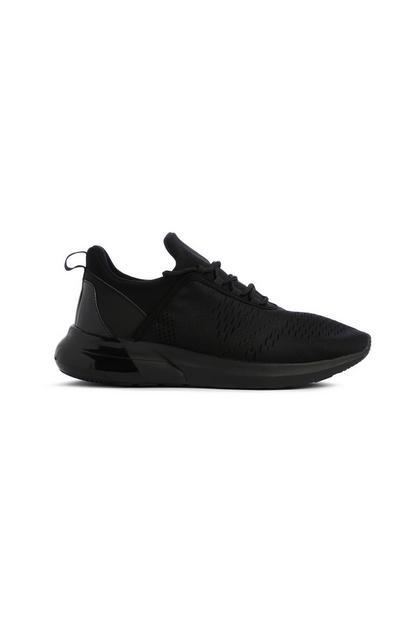 Schwarze Sneaker aus Textil