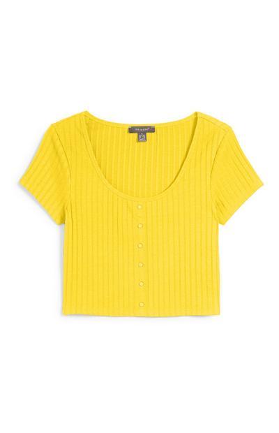 Kurzes Top in Gelb