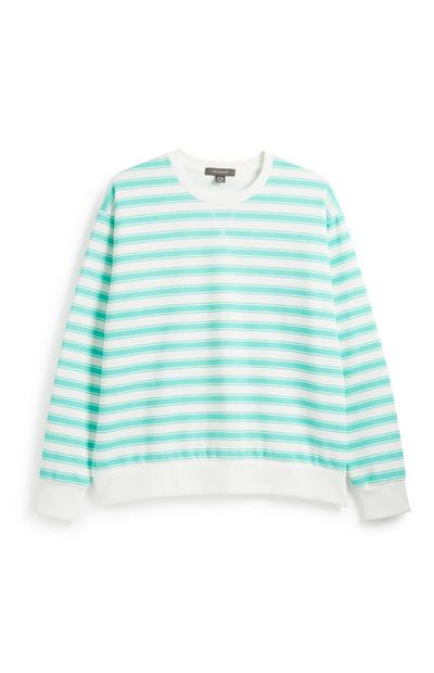 Aqua Stripe Sweatshirt