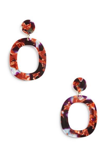 Orange Ohrringe aus Kunstharz