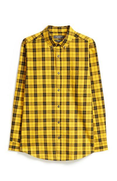 Gelb kariertes Hemd