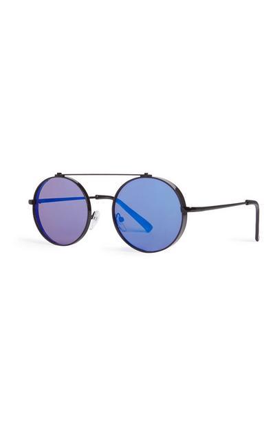 Runde Sonnenbrille in Schwarz