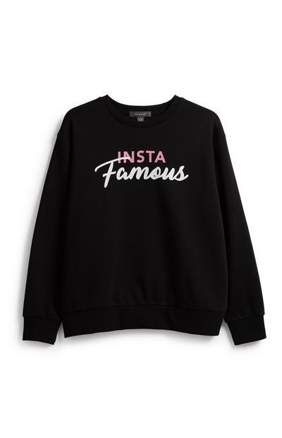 Schwarzes Sweatshirt mit Schriftzug