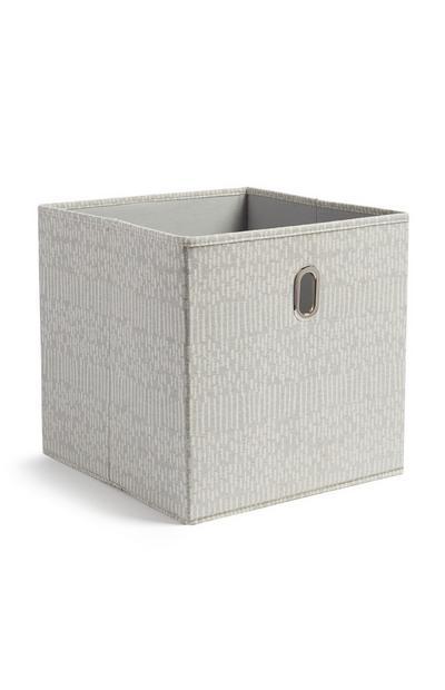 Grey Cube Storage Box