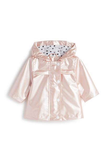 Rosa Regenmantel für Babys (M)