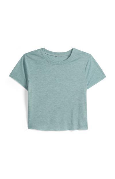 Kurzes T-Shirt in Blau