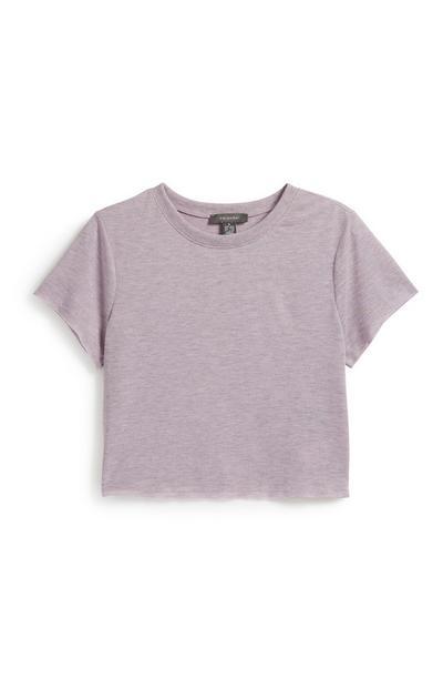 Lilac Crop T-Shirt
