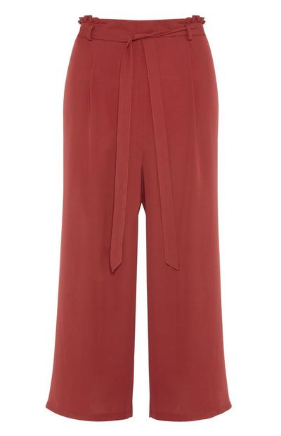 Burnt Orange Wide Leg Trouser