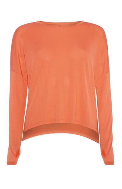 Orangefarbenes Top