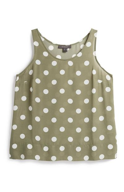 3de3a909093 White Pattern Tunic Top. £10.00. Polka Dot Crepe Vest