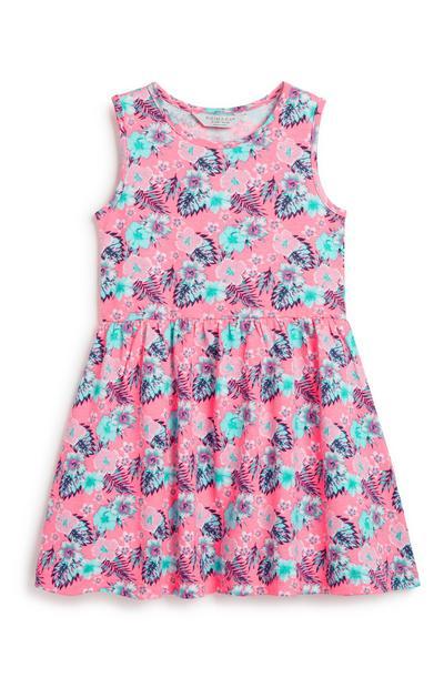 Kleid mit Blumenmuster (kleine Mädchen)