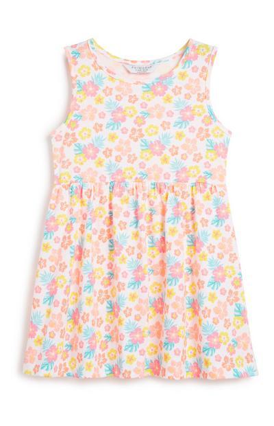 Jersey-Kleid mit Blumen (kleine Mädchen)