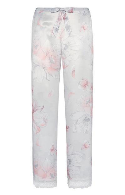 Satin Floral Pyjama Trouser