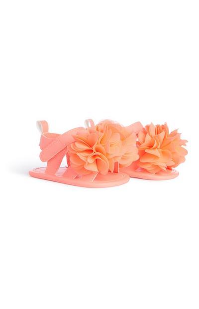 Sandalen mit Zierblumen für Babys (M)