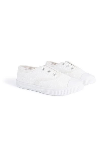 Weiße, Schnürlose Sneaker (kl. Mädchen)