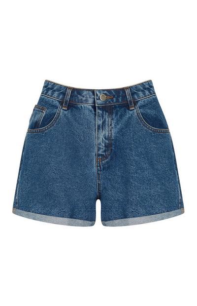 Indigoblaue Shorts