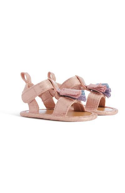 Rosafarbene Sandalen für Babys (M)
