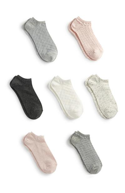 Knöchelsocken, 7er-Pack