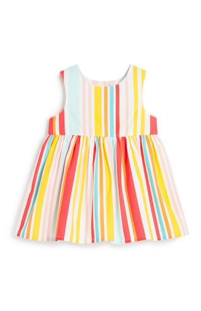 Gestreiftes Kleid für Babys (M)