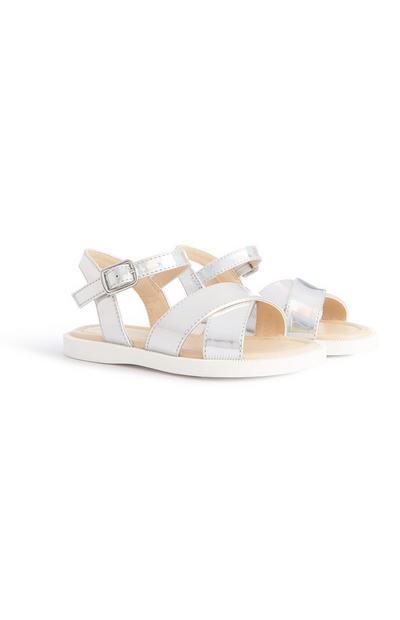 Silberne Sandalen (kleine Mädchen)