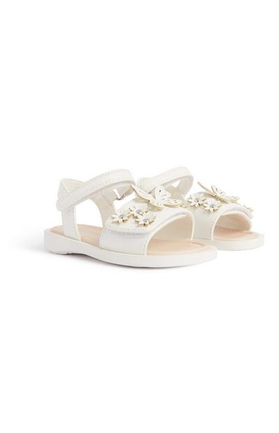 Baby Girl Pre Walker Sandal White