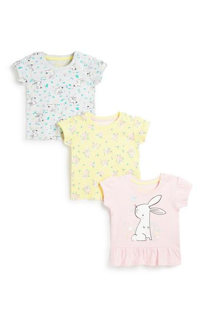 Top für Babys (M), 3er-Pack