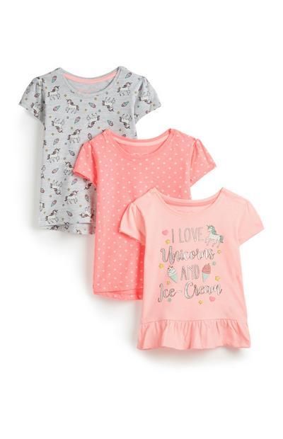 Einhorn-T-Shirts für Babys (M), 3er-Pack