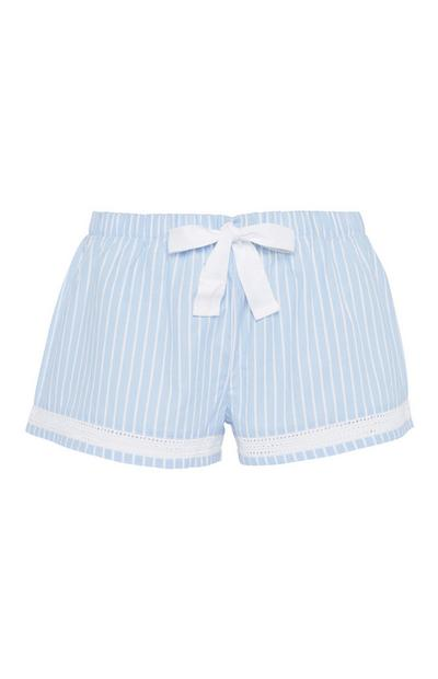 Blue Stripe Pyjama Short