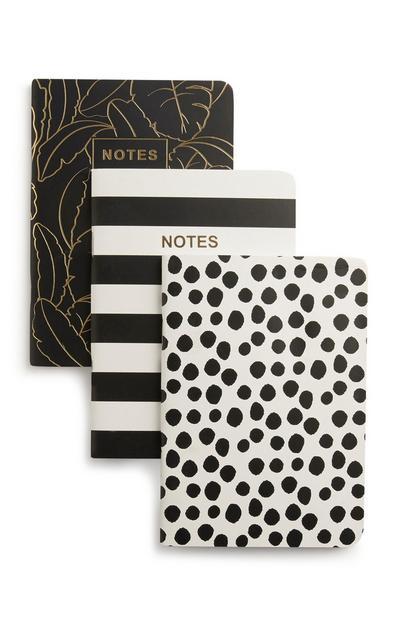 Notizbücher im A6-Format, 3er-Pack