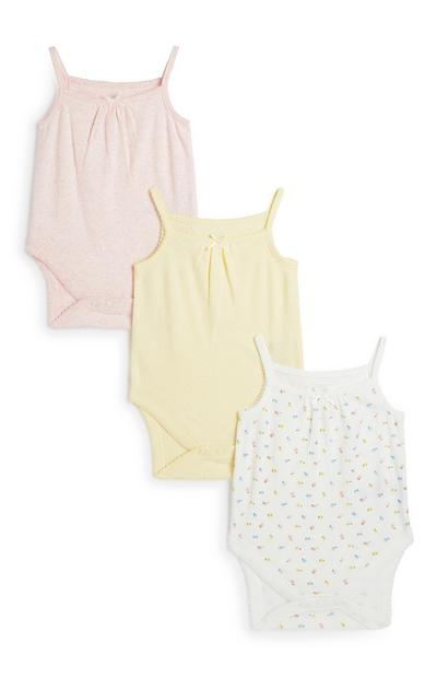 Träger-Bodys für Neugeborene, 3er-Pack