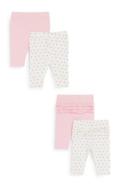 Rüschen-Leggings für Babys (M), 2er-Pack
