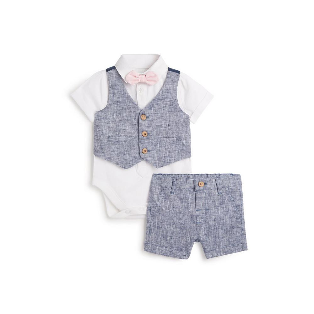 newborn-formal-4pc-outfit-set by primark