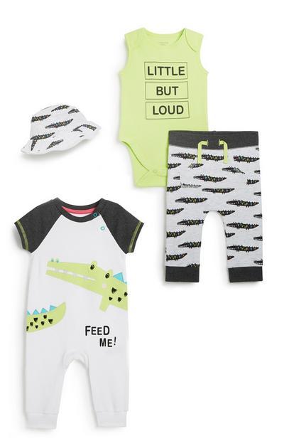 4-teiliges Outfit-Set für Babys (J)