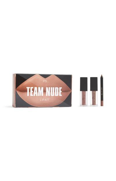 """Team Nude"" Lippen-Make-up-Set"