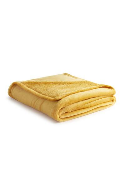 Weiche Decke in Gelb
