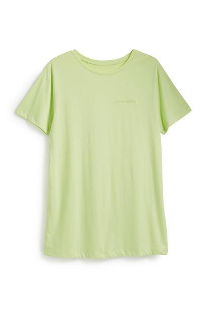 Neongrünes T-Shirt