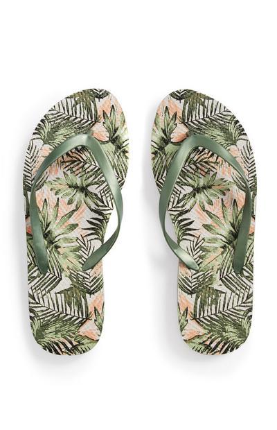 Palm Print Flip Flop