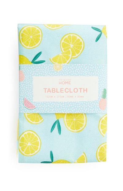 Tischdecke mit Zitronenprint