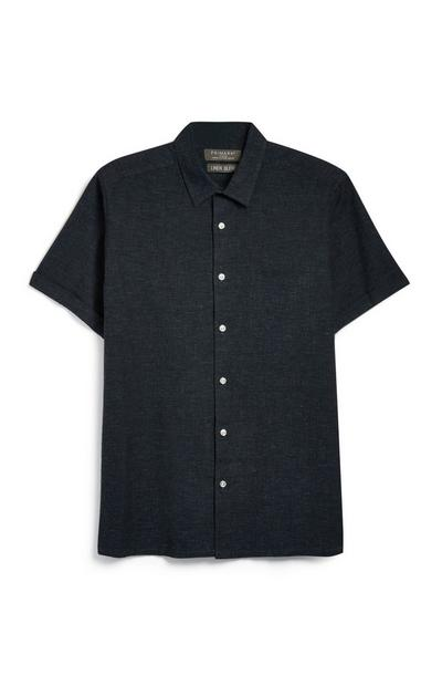 Marineblaues Leinenhemd