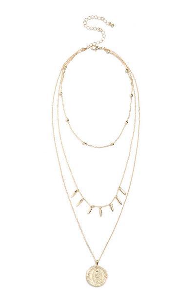 Halskette mit Münzanhänger