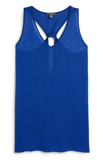 Blaues Strandkleid