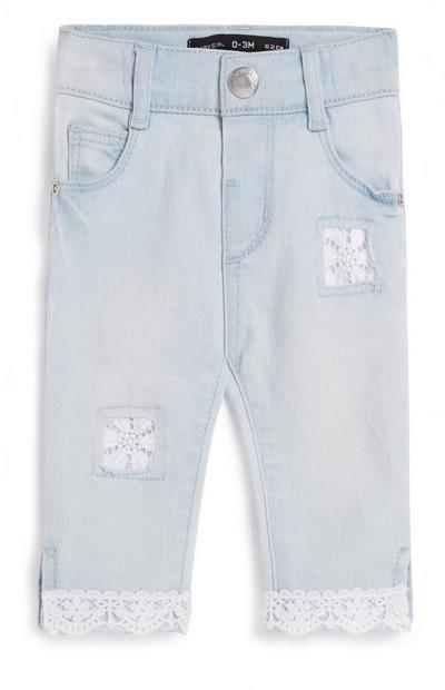 Jeans mit Spitze für Babys (M)