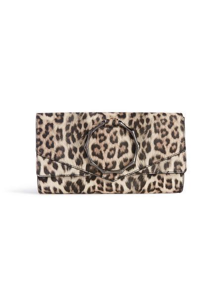 Clutch mit Leopardenmuster